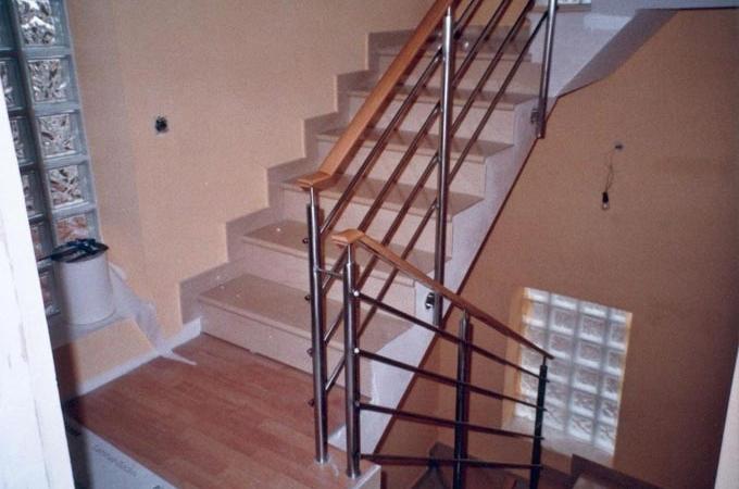 Barandas acero inox servitja - Barandas de escaleras de madera ...