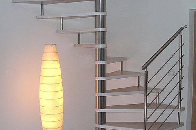 Escaleras caracol acero inox y madera servitja - Precio escalera caracol ...