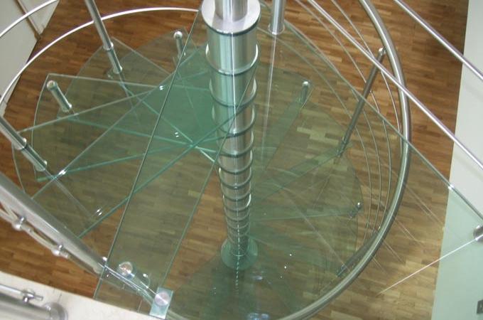 Escaleras caracol pelda os vidrio servitja - Escaleras de caracol barcelona ...