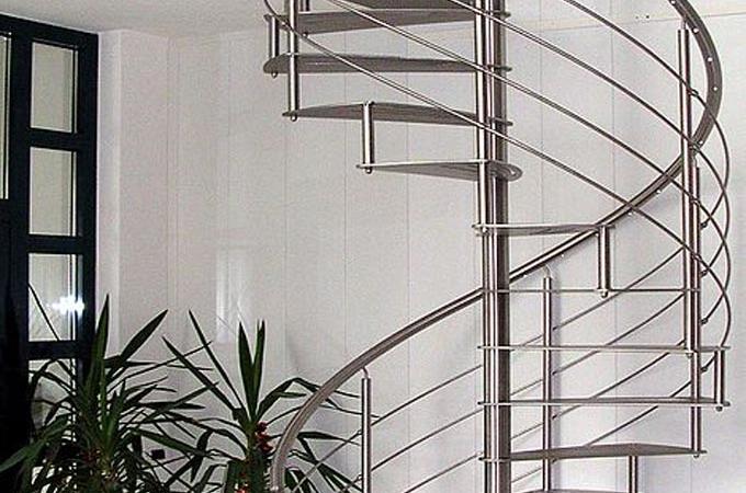 Escaleras caracol acero inox servitja - Escalera caracol exterior ...