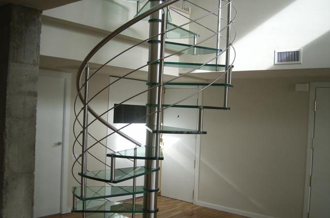Escaleras caracol pelda os vidrio servitja - Precio escalera caracol ...
