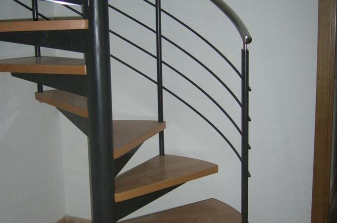 Escaleras caracol metal y madera servitja - Escaleras de caracol metalicas ...