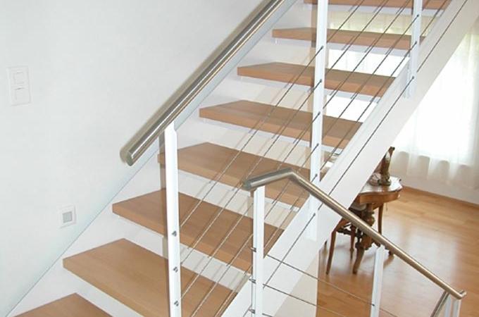 Zancas metalicas y pelda os madera servitja - Peldanos de madera para escalera ...