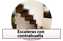 Escaleras con contrahuella